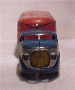 Wyandotte Highway Freight Hauler Red & Blue Pressed Steel Truck 1940s