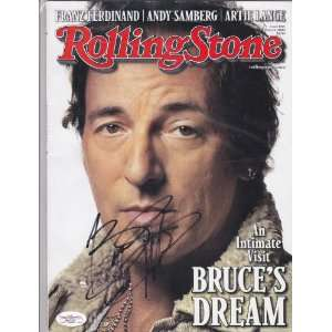 Bruce Springsteen Rolling Stones Signed Autographed Magazine Coa