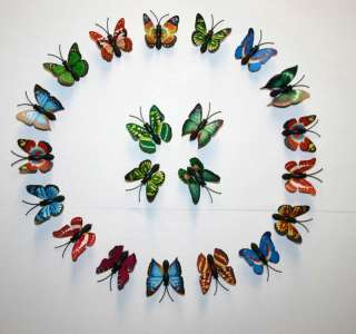wholesale lot 20 pcs small size colorful Butterfly magnet fridge S001