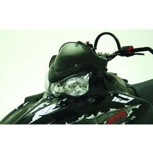 11 1/2 inch PowerMadd Cobra Snowmobile Windshield for Polaris IQ RMK