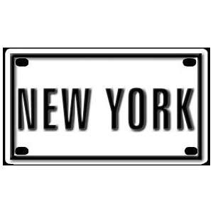 New York 2 1/4 X 4 Aluminum Die cut Sign Arts, Crafts & Sewing