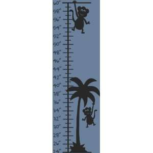 Monkey Palm Tree Vinyl Animal Wall Growth Chart