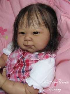 REBORN BABY GIRL ASIAN   KIT SHAO LIMITED EDITION 36/100 ADRIE STOETE