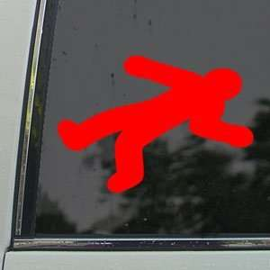Dead Body Outline Red Decal Car Truck Window Red Sticker