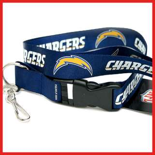 San Diego Chargers Lanyard Key Chain ID Holder  Blue