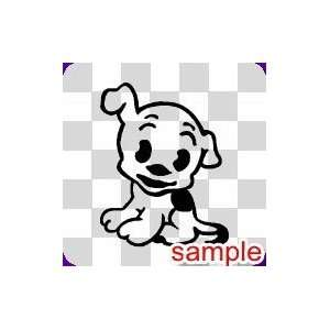 DOG CUTE PUPPY WHITE VINYL DECAL STICKER