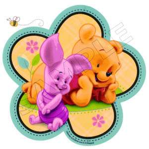 Pooh Baby Cuties Edible Cake Topper Decoration Image