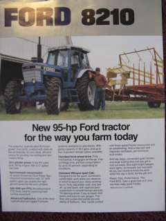 Ford 8210 Tractor Sales Brochure