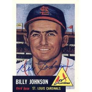 Billy Johnson Autographed 1991 Topps 1953 Reprint Card #21