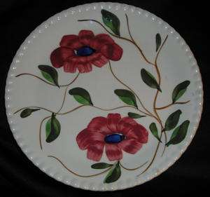 Vintage Blue Ridge Southern Potteries Hand Painted Red/Blue Flowers