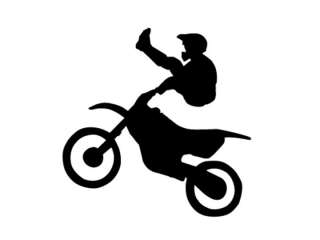 DIRT BIKE Motocross Boys Bedroom Kids Wall Art Decal