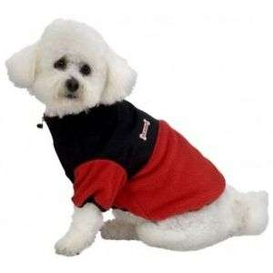 Red & Black fashion pet bone logo Adventure Fleece Jacket DOG COAT L