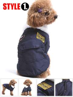 VARIOUS DOG HOODIE Warm Coat puppy clothes Jacket XS S M L XL