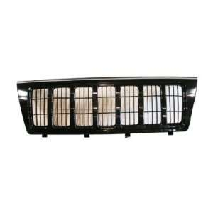 Grand Cherokee Black Replacement Grille W/ Black Frame Automotive