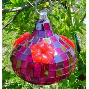 Bird Brain Rubies Cubed Hummingbird Feeder, Red Patio, Lawn & Garden
