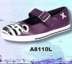 TUK New PURPLE Pirate Teddy Bear MARY JANE Thin Sole Plimsoll Sneakers