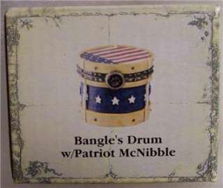 BOYDS TREASURE BOX, BANGLES DRUM, PATRIOTIC BBC EXC.