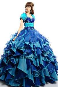 Strapless Wedding Quinceanera Ball Gown Prom Evening Pageant Dress