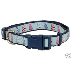 Douglas Paquette Nylon Dog Collar SAILBOATS 1x18 26