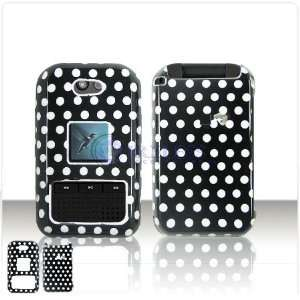 Black and White Polka Dots Case Cover for Brand Kyocera