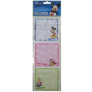Disney Mickey Minnie Mouse and Goofy Sticky Notes (6 Pads