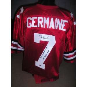 Joe Germaine signed autographed authentic jersey Ohio