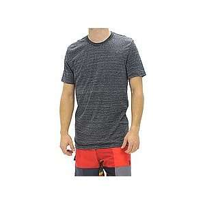 Hurley Staple Pinner Stripe Premium Tee (Onyx/White) Large