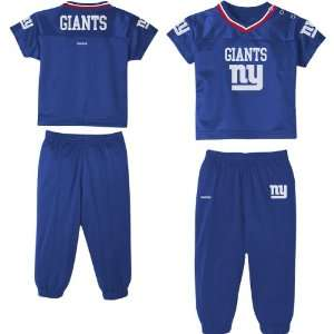 Reebok New York Giants Infant Short Sleeve Jersey And Pant