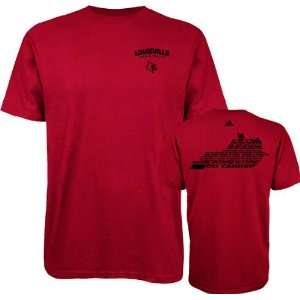 Louisville Cardinals Red adidas Fight Fight Fight T Shirt