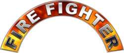 Firefighter Helmet Arcs Decal All Ranks Fire FF50