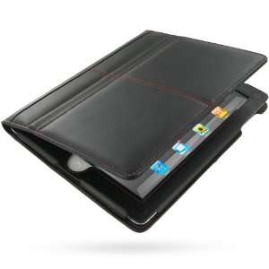 PDair BX1 Black/Red Stitchings Leather Case for Apple iPad