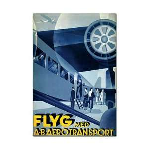 FLYG Aerotransport Vintage Advertising Art Fridge Magnet