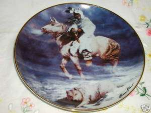 SPIRIT OF THE WINTER WIND FRANKLIN MINT PLATE