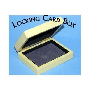 Locking Card Box Wood Vanish Change Magic Tricks Poker