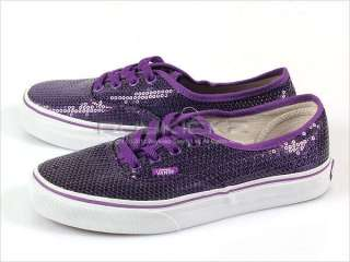 Vans Authentic (Glitter Dots) Purple Classic Womens 2011 Sequins Low