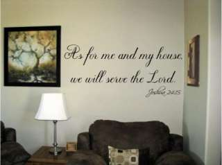As for me and my house servethe Lord Vinyl Wall Art Words Decals