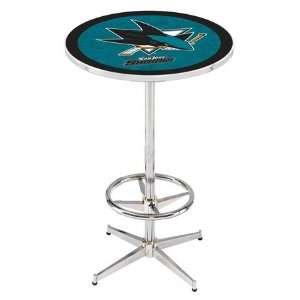 36 San Jose Sharks Counter Height Pub Table   Chrome Base