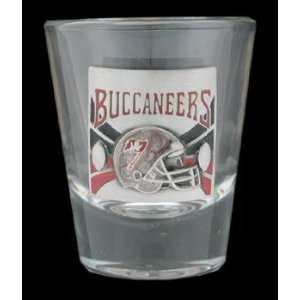 Tampa Bay Buccaneers Round NFL Shot Glass  Sports