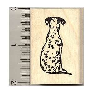 Dalmatian Dog Rubber Stamp   Wood Mounted Arts, Crafts
