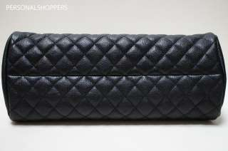 LOVELY CHANEL JUST MADEMOISELLE JM BLACK CAVIAR LEATHER BOWLER BAG