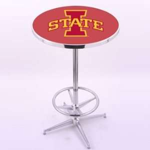 Holland Bar Stool Co. Iowa State University Chrome Pub