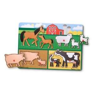 Melissa & Doug Wooden Farm Peg Puzzle Toys & Games