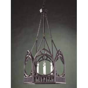 Iron Works Collection Hanging Six Light Fixture In Rust Finish   6