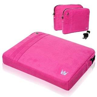 Faux Suede Pocket Case (Fuchsia) for Apple MacBook Air 13 Inch Laptop