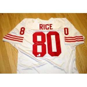 Signed Jerry Rice Football   (San Francisco 49ersWhite