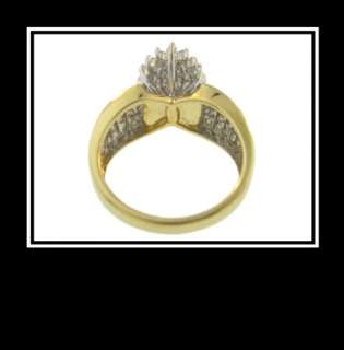 10K Solid Two Tone Gold Diamond Fashion Wedding Ring