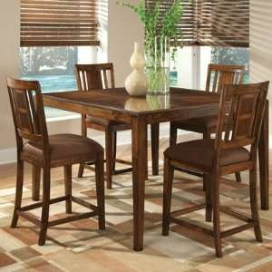 10994 Cape Point 5 Piece Counter Height Table Set in Dark Brown Cherry