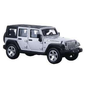 Atlas HO RTR 2007 Jeep Wrangler Unlimited, Silver Toys & Games