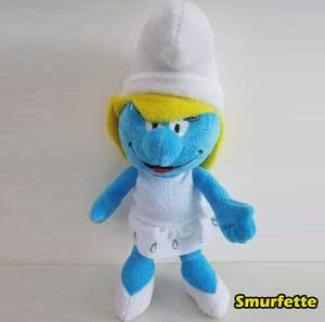 The Smurfs Plush Toy Smurfette Pretty Girl Smurf Soft Doll Stuffed