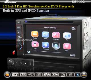 ES710G ERISIN 6.2 CAR DVD PLAYER TOUCH SCREEN GPS HD BLUETOOTH IPOD
